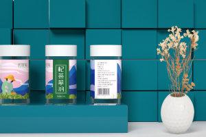 哲墨美 枸杞芽茶 套装礼盒设计